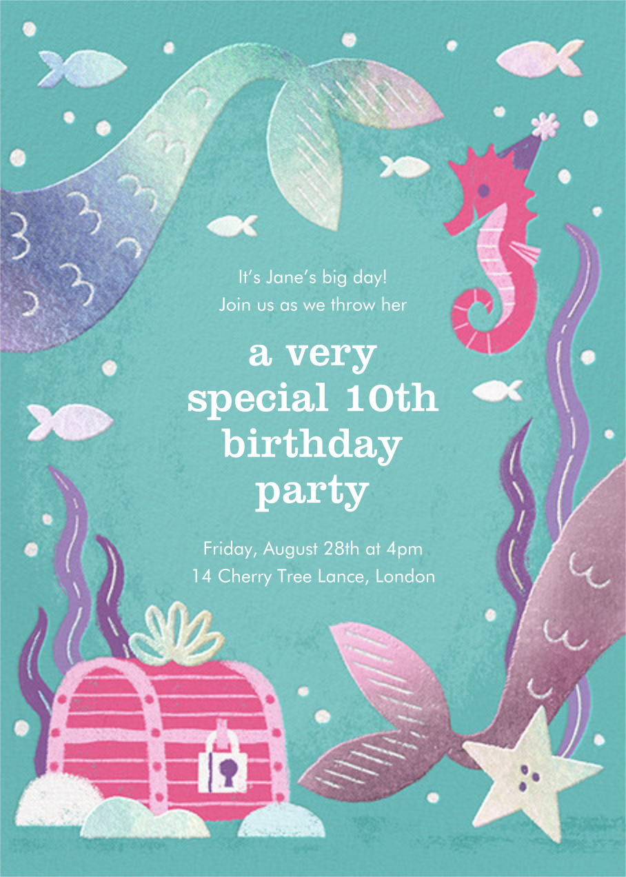 Under the Sea - Paperless Post - Kids' birthday invitations