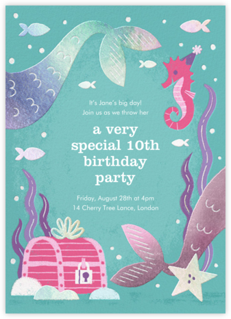 Under the Sea - Paperless Post - Online Kids' Birthday Invitations