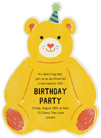 Beary Fun Birthday - Paperless Post - Online Kids' Birthday Invitations