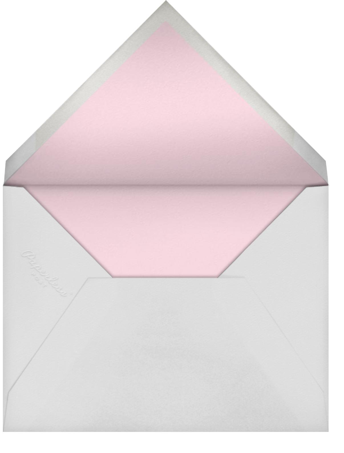 Border Bows - Spring Rain - Anthropologie - Baby shower - envelope back