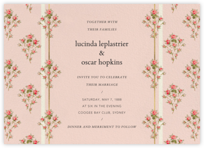 Rosalie (Invitation) - Brock Collection -
