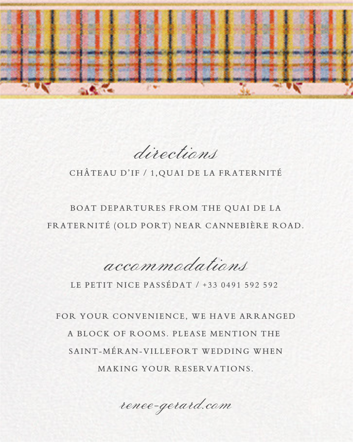 Clara (Invitation) - Brock Collection - All - insert front