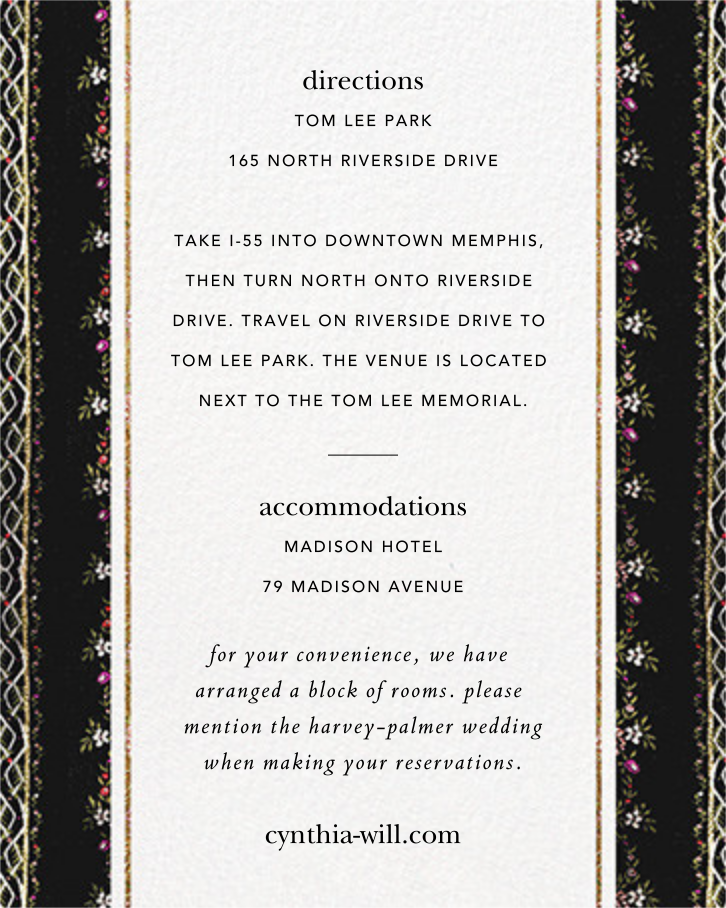 Greta (Invitation) - Brock Collection - All - insert front
