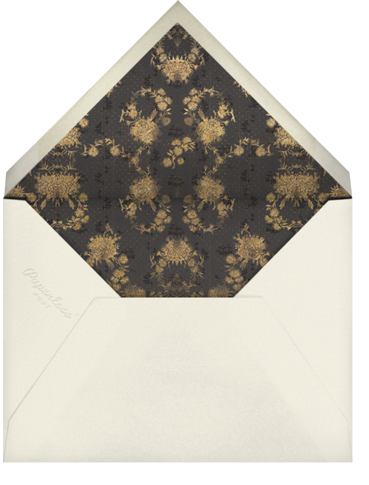 Valentina (Invitation) - Caviar - Brock Collection - Envelope