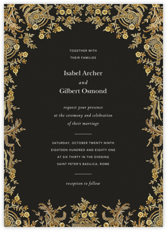 Valentina (Invitation) - Caviar - Brock Collection - Wedding Invitations