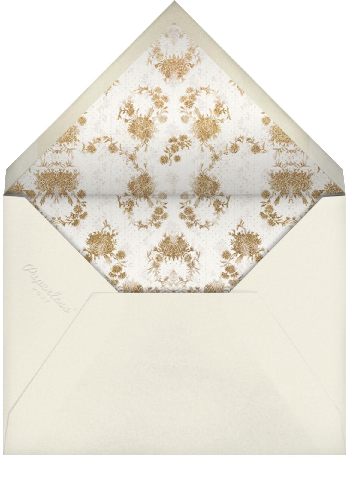 Valentina (Invitation) - Cream - Brock Collection - All - envelope back
