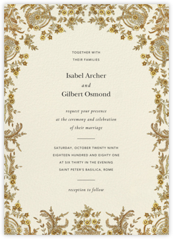 Valentina (Invitation) - Cream - Brock Collection - Wedding Invitations