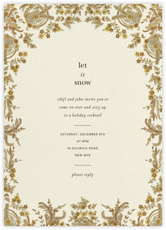Valentina - Cream - Brock Collection - Holiday invitations