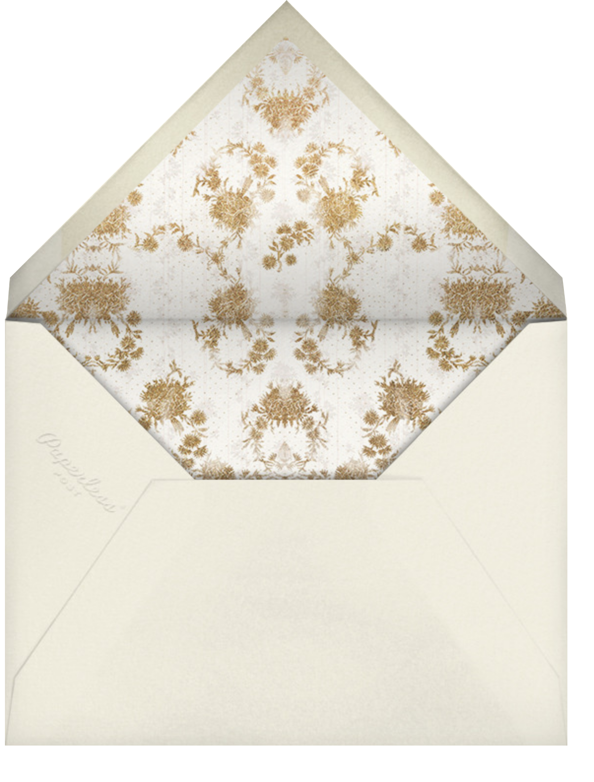 Valentina (Invitation) - Cream - Brock Collection - Rehearsal dinner - envelope back