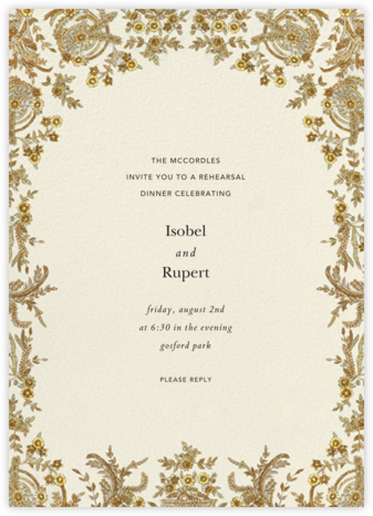 Valentina (Invitation) - Cream - Brock Collection - Wedding Weekend Invitations