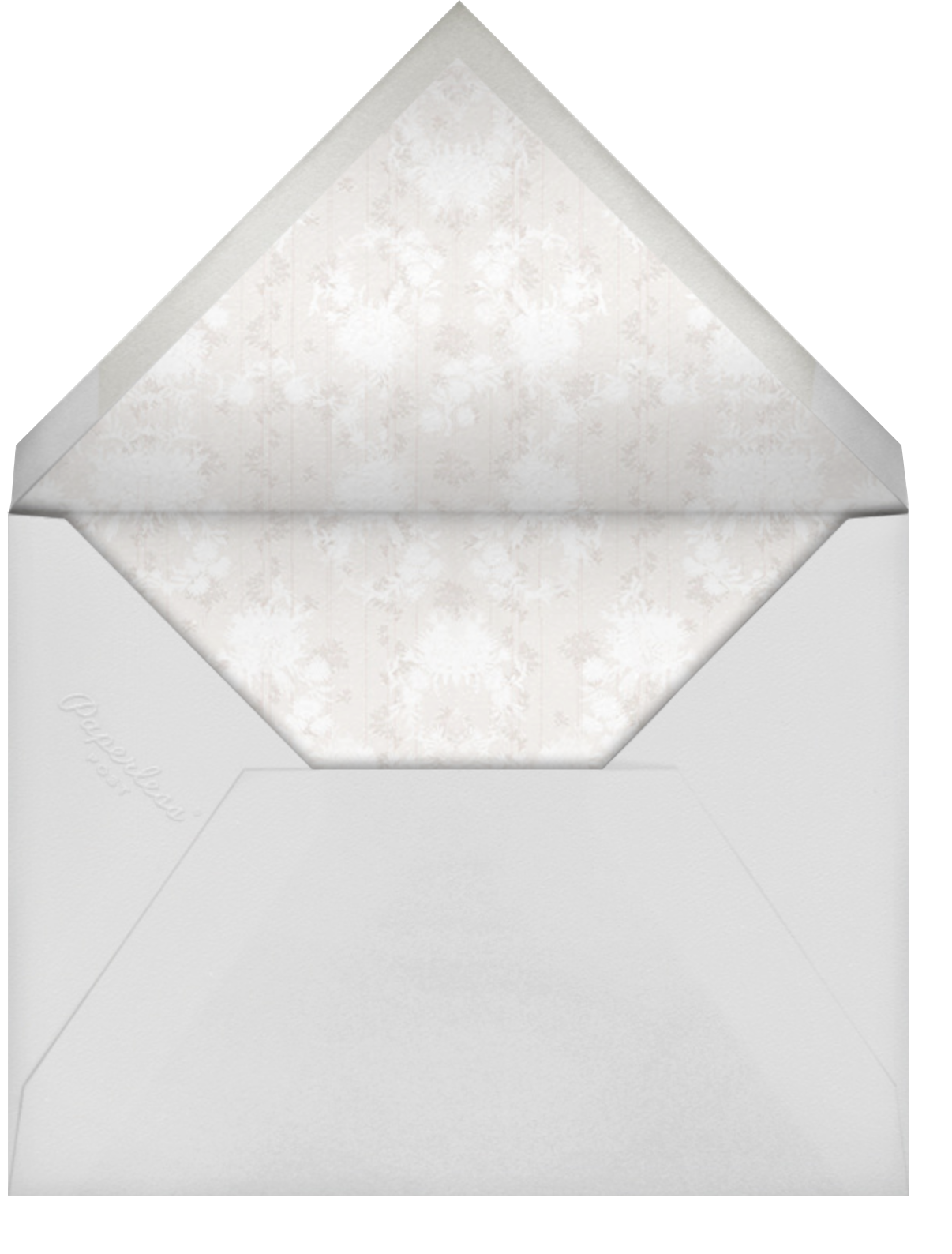 Elisabetta (Invitation) - Cream - Brock Collection - All - envelope back