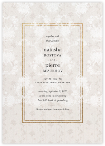 Elisabetta (Invitation) - Cream - Brock Collection - Wedding Invitations
