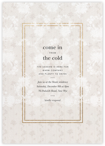 Elisabetta - Cream - Brock Collection - Holiday invitations