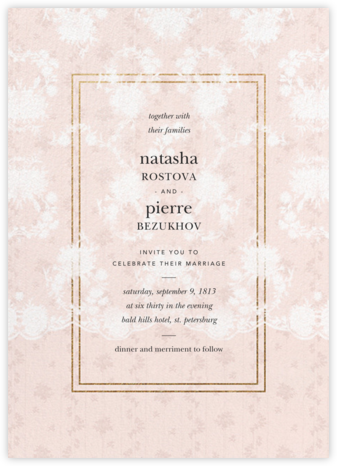 Elisabetta (Invitation) - Meringue - Brock Collection -