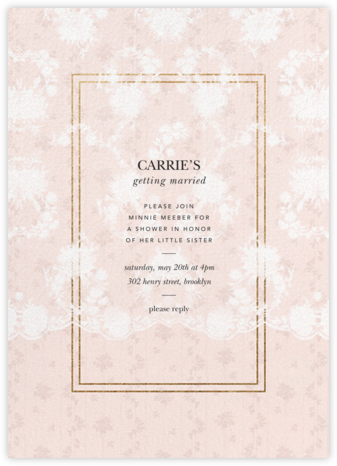 Elisabetta - Meringue - Brock Collection - Bridal shower invitations