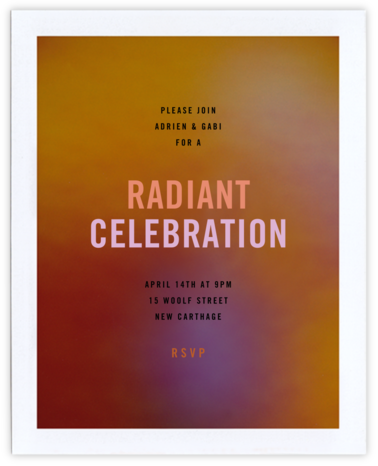 Aura - Orange - Radiant Human - Adult Birthday Invitations