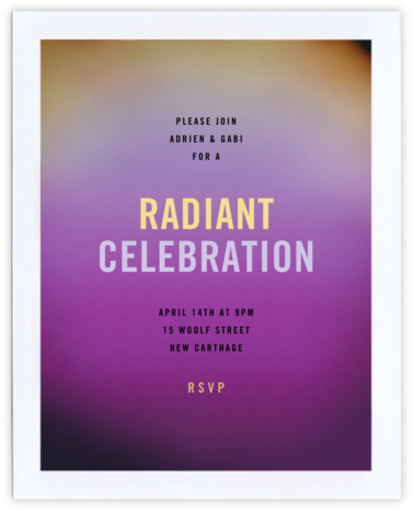 Aura - Purple - Radiant Human - Adult Birthday Invitations