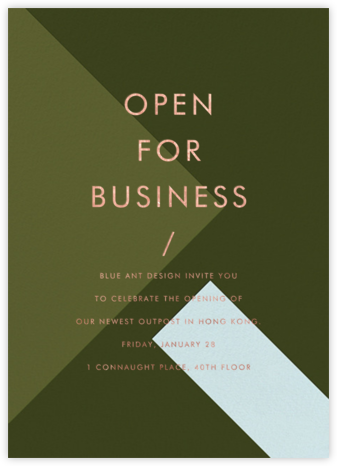 All Angles - Olive - Paintbox - Business Party Invitations