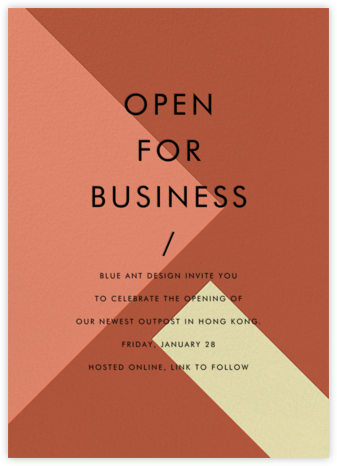 All Angles - Tarocco - Paintbox - Business event invitations