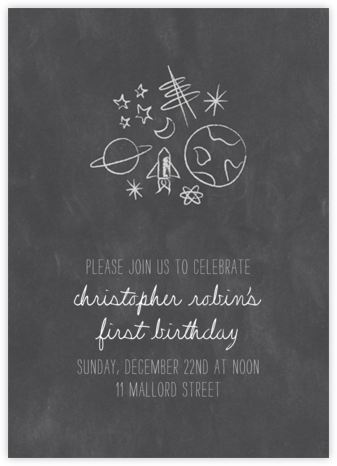 Space Bunch - Chalk - Paperless Post -