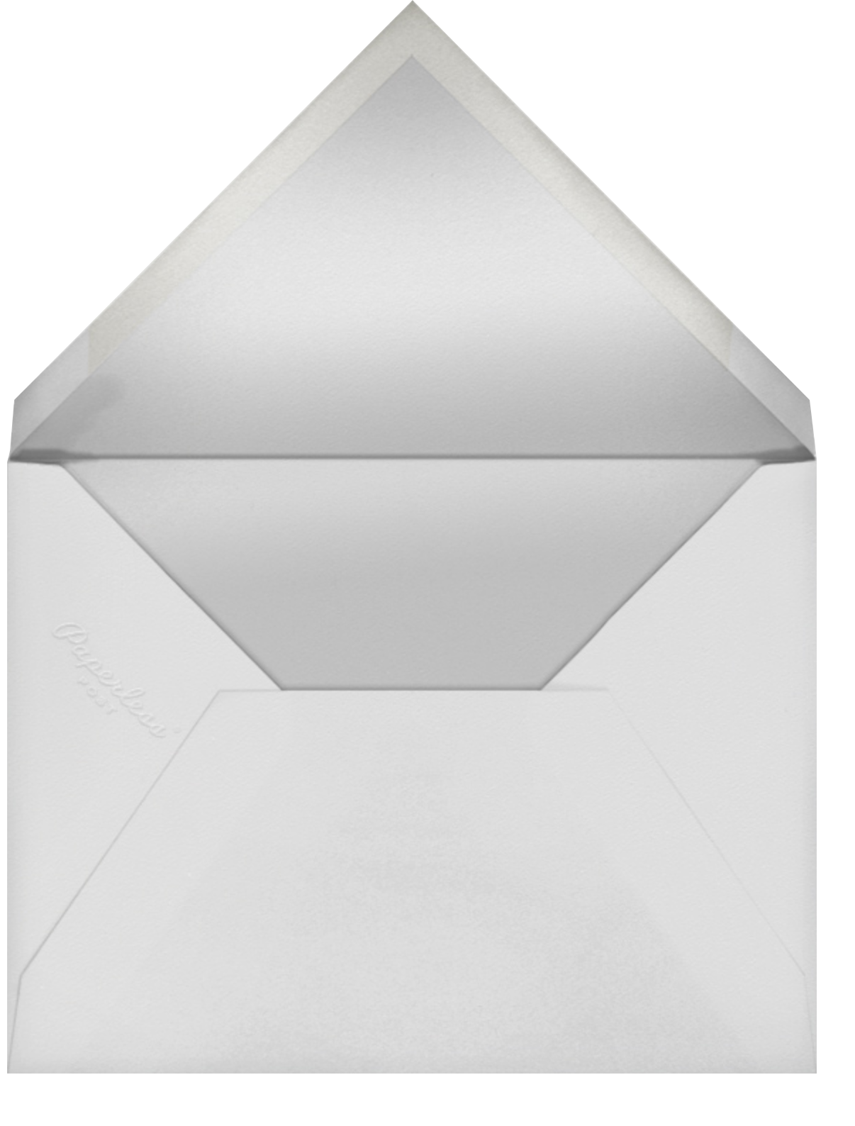 Editorial II (Menu) - Silver - Paperless Post - Holiday Party - envelope back