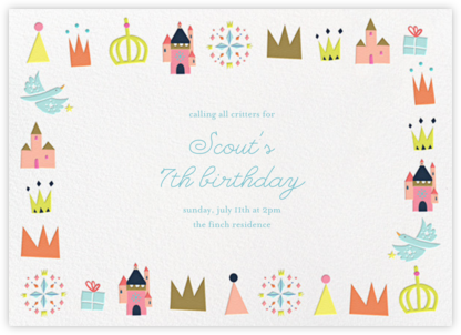 Royal Party - Little Cube - Unicorn invitations