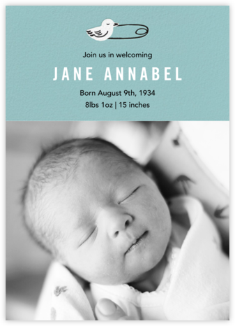 Duck Pin Photo - Bondi - Paper Source - Birth Announcements