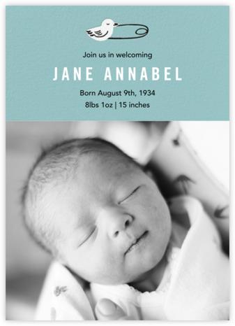 Duck Pin Photo - Bondi - Paper Source - Birth Announcements