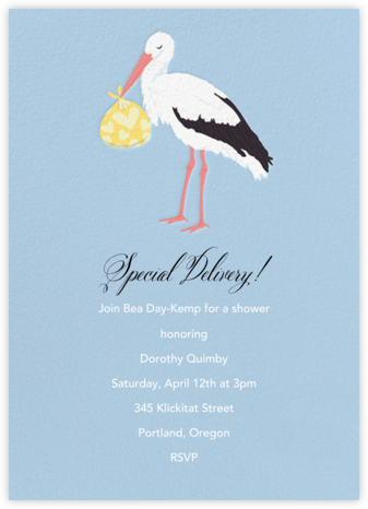 Stork - Paper Source - Baby Shower Invitations