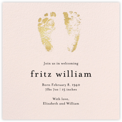 Footprints - Meringue - Paper Source - Birth Announcements