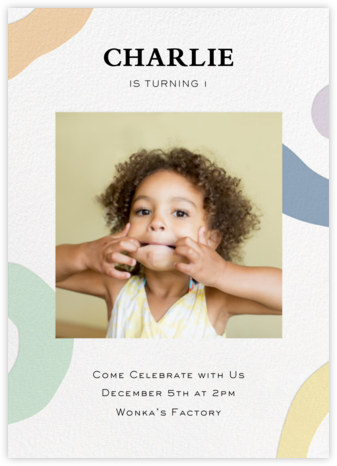 Colorful Shapes  - Paper Source - First Birthday Invitations