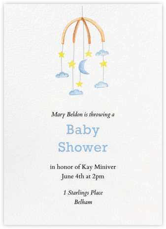 Mobile - Paper Source - Baby shower invitations