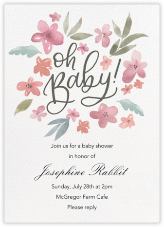Baby Bouquet - Paper Source - Baby Shower Invitations