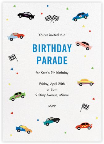 Pit Crew - Paper Source - Invitations