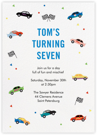 Pit Crew - Paper Source - Birthday invitations