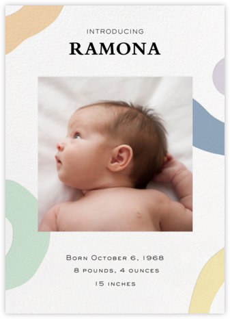 Colorful Shapes - Paper Source - Birth Announcements