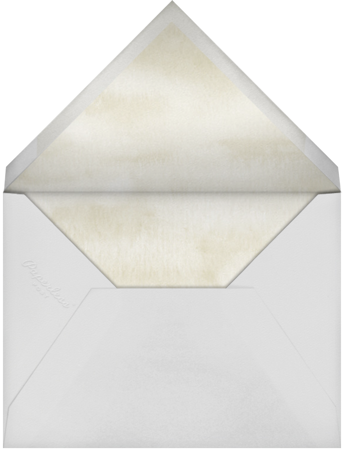 Lemon Leaves - Paper Source - Rehearsal dinner - envelope back