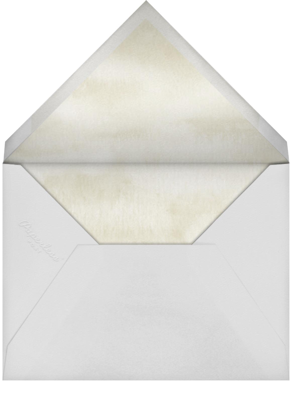 Lemon Leaves - Paper Source - Summer entertaining - envelope back