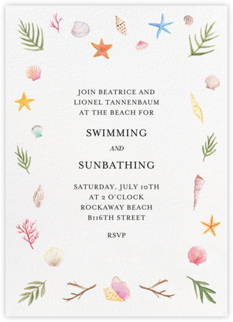Seashells - Paper Source - Summer entertaining invitations