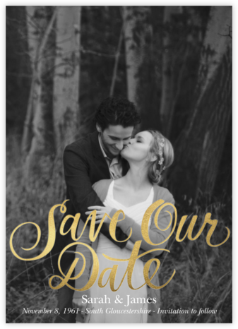 Save Our Date - Paper Source - Gold and metallic save the dates