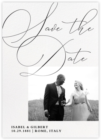 Signature Script - Paper Source - Save the dates