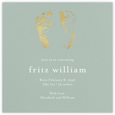 Footprints - Palm - Paper Source - Birth Announcements