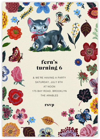 Le Chaton - Nathalie Lété - Birthday invitations