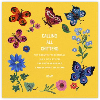 Papillons - Citrus - Nathalie Lété - Online Kids' Birthday Invitations
