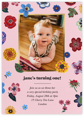Pétales - Blush - Nathalie Lété - First Birthday Invitations