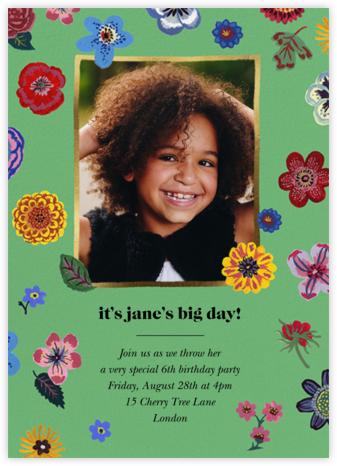 Pétales - Kelly - Nathalie Lété - Online Kids' Birthday Invitations
