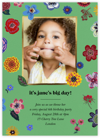 Pétales - Kelly - Nathalie Lété  - Kids' birthday invitations