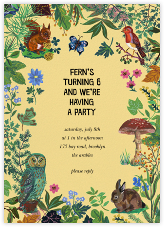Forêt Enchantée - Dawn - Nathalie Lété  - Kids' birthday invitations