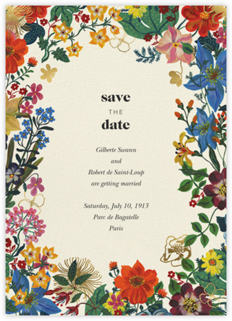 En Fleurs - Cream - Nathalie Lété - Save the dates