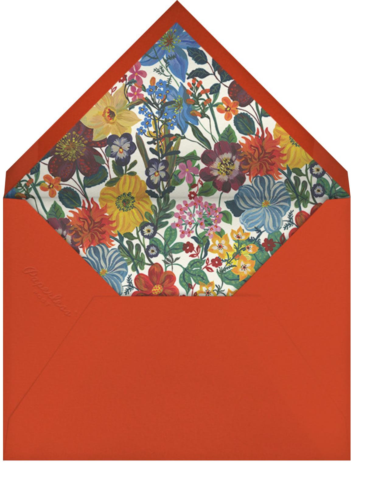 En Fleurs - Black - Nathalie Lété - Save the date - envelope back